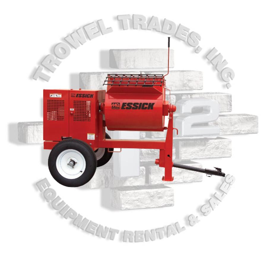 Mortar Mixer Blades : Essick mortar mixer steel drum plaster