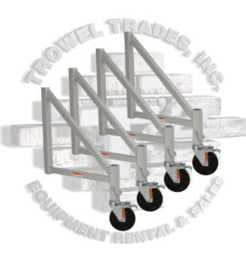 Trowel Trades Aluminum Scaffold Outrigger Set with Wheels